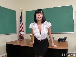 Veronica Avluv is a sumptuous dark haired with immense, rigid hooters who luvs to blow up varied hard-ons