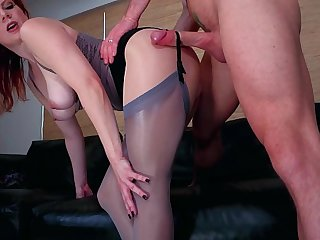 A PantyHose Affair: Lady Olivia & Laz Fyre *Pantyhose Talisman Sex* sheer, nylon, stockings