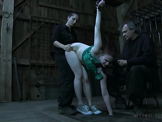 Kinky mistress puts on strapon plus fucks mouth plus twat of Claire Adams