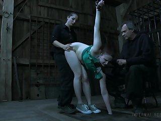 Kinky mistress puts on strapon plus fucks mouth plus twat of Claire Adams