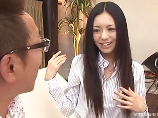 Forfeiture Japanese hottie Aino Kishi enjoys riding a dick be fitting of a stranger