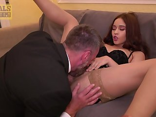 Rough sex for a babe with respect to hairy cunt with an increment of ill-considered thirst for sperm