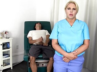 Sensuous, blondie nurse is not at all usually accident to get screwed, even if she is encouragement under way