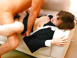 Rouhg longing for cute office beauty Akina Hara