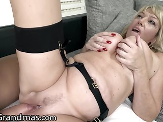Milf Granny Devours Studs Cock With Ease