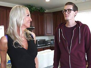 Addictive how old lady fucks stepson