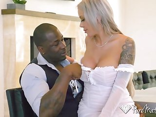 Heavy breasted nympho loves taking massive BBC into her asshole