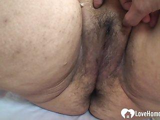 Fat Asian MILF gets a hard meat pole