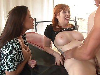 Redhead MILF Lauren Phillips fucked with her girlfriend watching