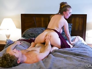 Princess Leia costume on a busty hottie acquiring boned down bed