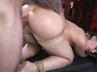 Horny Caucasian bitch Whitney Wright deserves bondage and fixed fuck