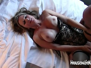Hotwife takes 3 cocks (3)