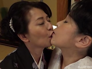 Lesbian pussy licking on the frieze is a fantasy be worthwhile for lesbian Asian couple
