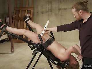 Sexual torture coupled with dirty stimulation for young Sicilia Ricci
