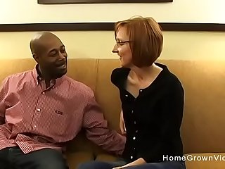 Tiny redhead mature gets fucked by a big sulky dig up