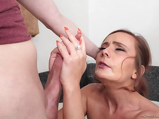 Strong female parent porn with eradicate affect sweltering step son