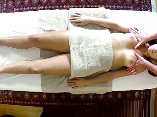 Glamcore massage babe gets doggystyled
