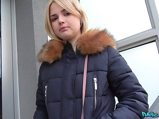 Amateur blonde Lolly Aphoristic picked up and fucked unconnected with a stranger