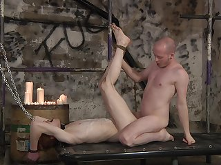 Gay lovers combine the guestimated anal sex with the share nudity